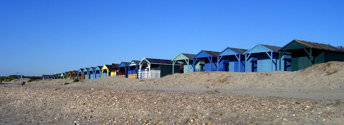 Beach Huts in Wittering