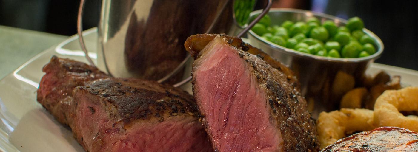 Fillet steak at the Boulevard Restaurant